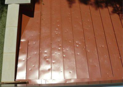 Floor - Metal roof