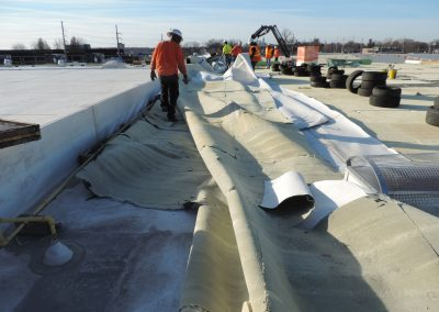 Roofing Materials Rolled On The Floor