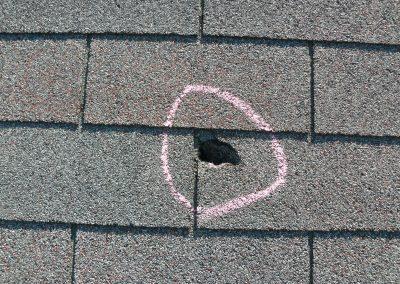 Deep Small Hole On Shingle Roof