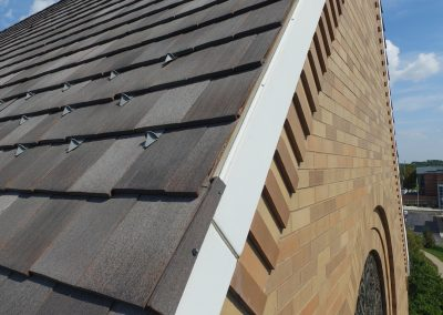 Closeup Of Tile Roof Edge