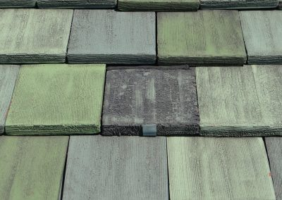 Closeup Of Green Tile Roof