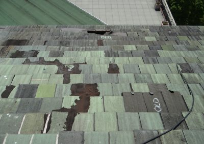 White Markings From Tile Roof Inspection