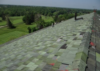 Damaged Roof Tiles Marked By Expert Roofing Inspectors