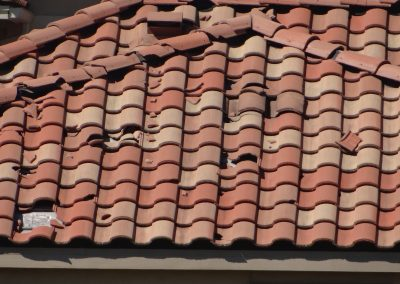 Missing And Broken Roof Tiles