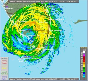 Radar Map Of Hurricane Wilma