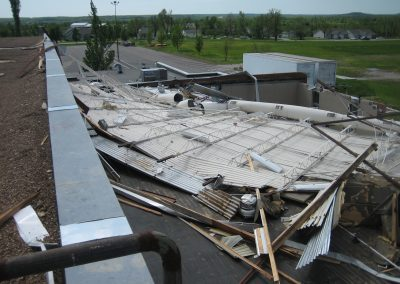 Extreme Wind Damage To Roof