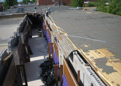Wind Damage Of Ripped Roof From A School